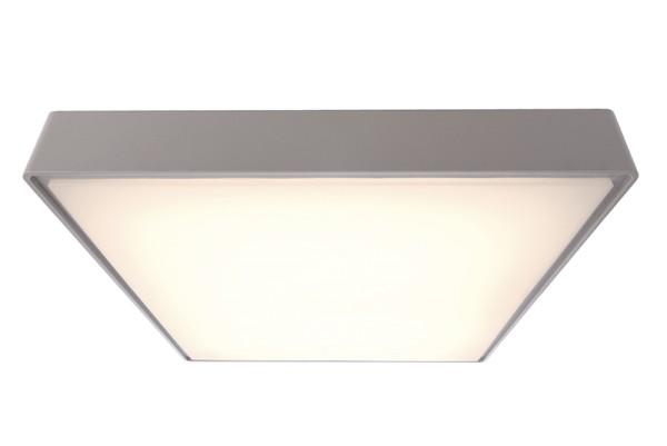 Deko-Light Deckenaufbauleuchte, Quadrata III, Kunststoff, grau, Warmweiß, 115°, 20W, 230V, 400x400mm
