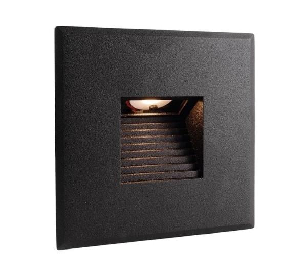 Deko-Light Zubehör, Abdeckung schwarz eckig für Light Base COB Indoor, Aluminium, Schwarz, 85x85mm