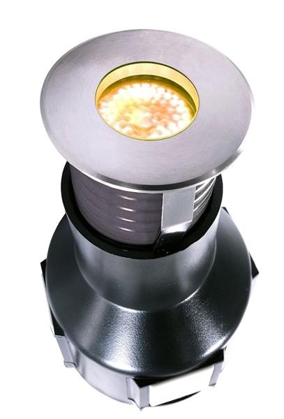 KapegoLED Bodeneinbauleuchte, Easy Round I WW, inklusive Leuchtmittel, symmetrisch, Warmweiß, 24V DC