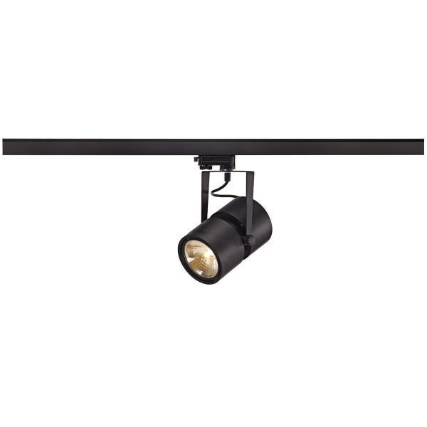 EURO SPOT, Spot für Hochvolt-Stromschiene 3Phasen, QR-LP111, schwarz matt, max. 75W