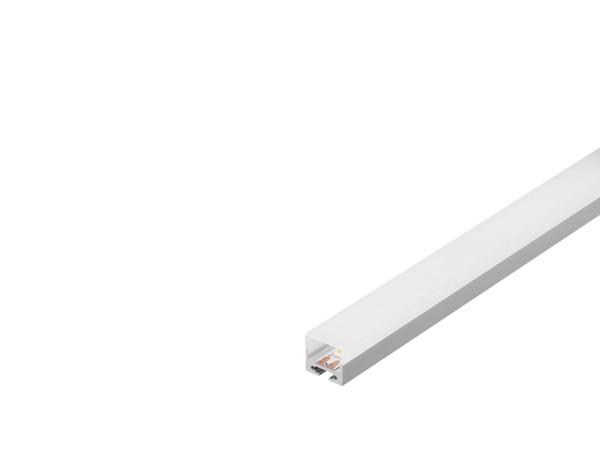 GLENOS, Profi-Profil 2020, aluminium eloxiert, 1 m, mit weißer Abdeckung