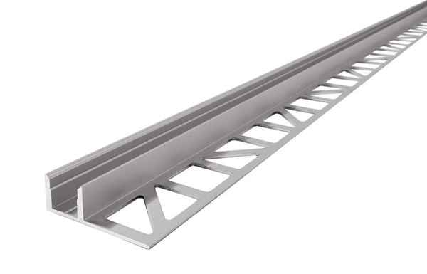 Reprofil Profil, Fliesen-Profil EL-01-08, Aluminium, Silber-matt eloxiert, 2500mm