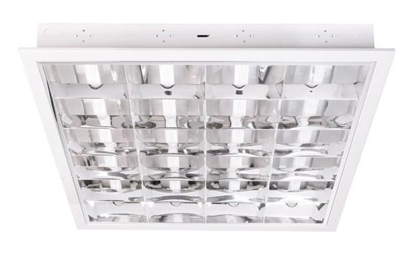 Deko-Light Einlegerasterleuchte, Metall, Weiß, 18W, 230V, 620x620mm