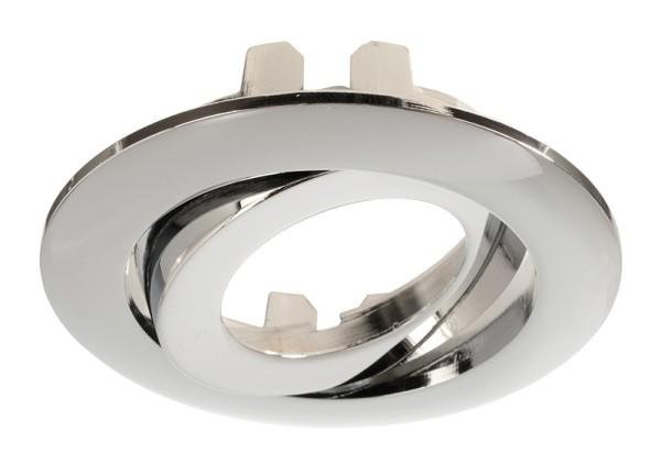 Deko-Light Zubehör, Rahmen für Lesath rund,chrom, Aluminium Druckguss, Silber Chrom