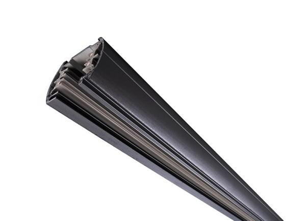 Ivela Schienensystem 3-Phasen 230V, Stromschiene rund, Aluminium, schwarz, 230V, 1000mm