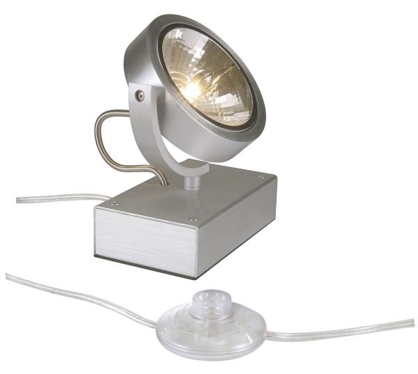KALU FLOOR 1, Standleuchte, einflammig, QR-LP111, rund, aluminium gebürstet, max. 50 W