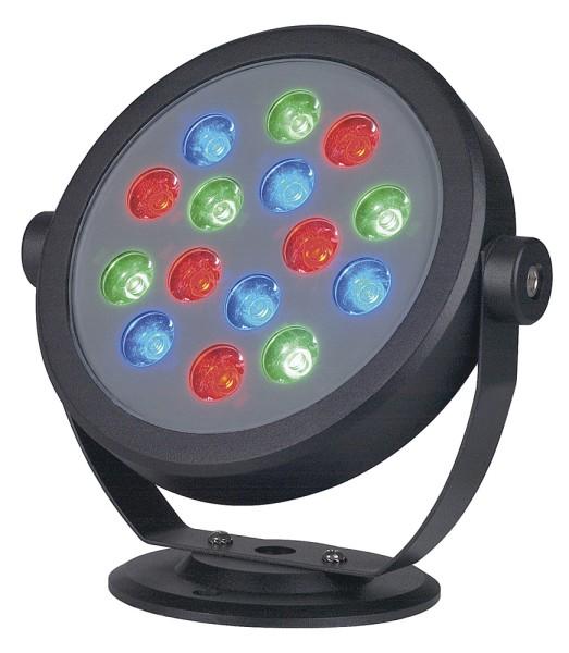 KETO RGB, Outdoor Fassadenleuchte, LED, rund, schwarz, 15W, IP65