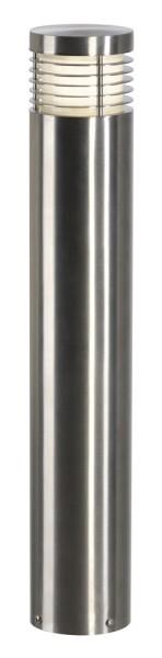 VAP SLIM 60, Outdoor Standleuchte, TC-TSE, IP44, edelstahl gebürstet, Ø/H 10/60 cm, max. 20W