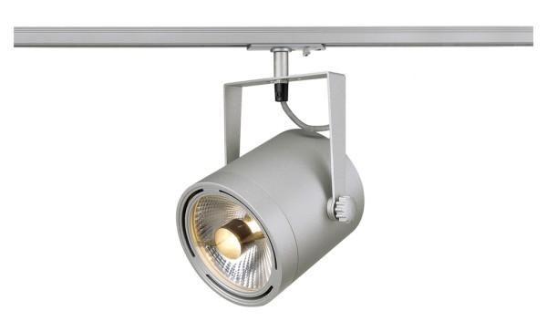 EURO SPOT, Spot für Hochvolt-Stromschiene 1Phasen, QPAR111, silbergrau, max. 75W