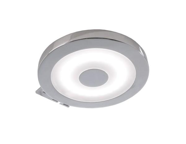 Deko-Light Möbelaufbauleuchte, Spiegel Rund, Aluminium, silberfarben Chrom, Neutralweiß, 120°, 4W