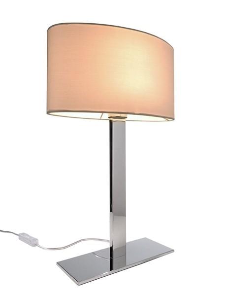 Kapego Tischleuchte, Roberta I, exklusive Leuchtmittel, Weiß, 220-240V AC/50-60Hz, Anzahl Sockel: 1