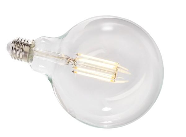 Deko-Light Leuchtmittel, Filament E27 G125 2700K, Glas, Warmweiß, 300°, 8W, 230V, 44mA, 173mm