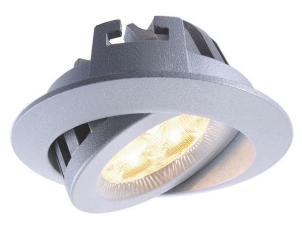 KapegoLED Deckeneinbauleuchte, TD16-5, inklusive Leuchtmittel, Silber, Warmweiß, Abstrahlwinkel: 70°