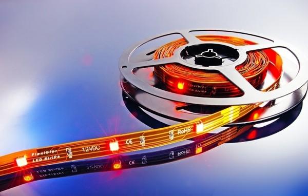 Flexibler LED Stripe, 5050, SMD, RGB, 12V DC, 21,60 W