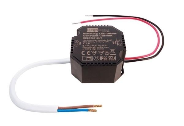 Deko-Light Netzgerät, OCTO, MiniD70012NT, Kunststoff, Schwarz, 12W, 9-18V, 700mA, 50x48mm
