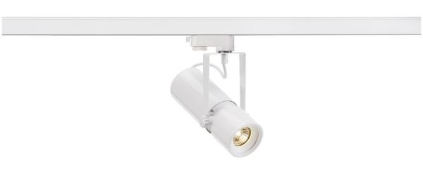 EURO SPOT, Spot für Hochvolt-Stromschiene 3Phasen, QR51, weiß, max. 50W, inkl. 3Phasen-Adapter