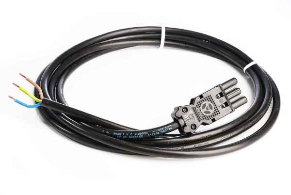 Zubehör, Wieland GST18i3 Anschlussleitung mit Stecker 300cm, Kunststoff, Schwarz, 230V, 3000mm