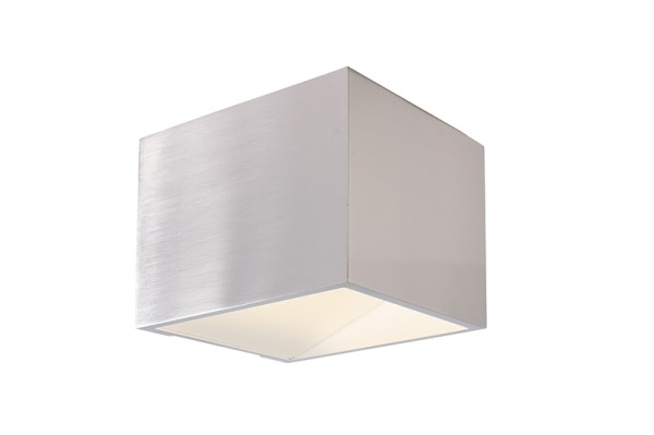 Deko-Light Wandaufbauleuchte, Dado Mini, Aluminium, silberfarben poliert, Warmweiß, 140°, 3W, 230V