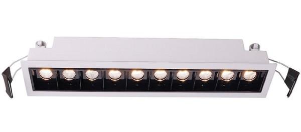 Deko-Light Deckeneinbauleuchte, Ceti 10, Aluminium Druckguss, weiß matt, Warmweiß, 45°, 20W, 28-29V