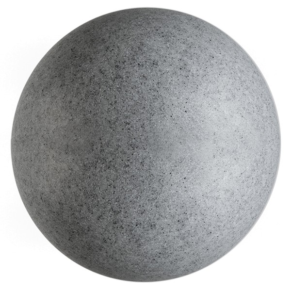 Deko-Light Dekorative Leuchte, Kugelleuchte Granit 59, Polyethylen (LLDPE), grau Granikoptik, 42W