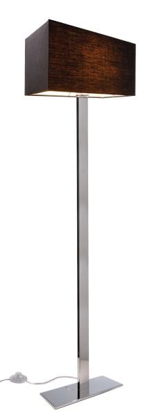 Deko-Light Stehleuchte, Roberta II, Stoff, Schwarz, 60W, 230V, 1600x400mm