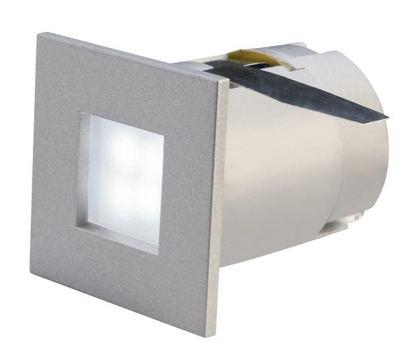 MINI FRAME, Einbauleuchte, 4 LED, 6500K, eckig, silbergrau, 0,3W