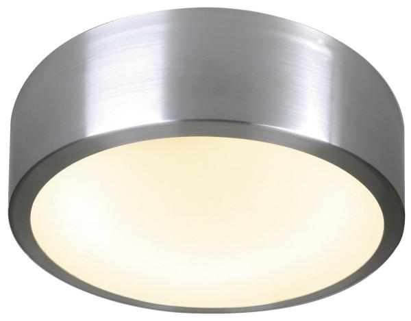 MEDO, Deckenleuchte, T16-R, rund, aluminium natur, Glas satiniert, max. 40W, Energiesparleuchte