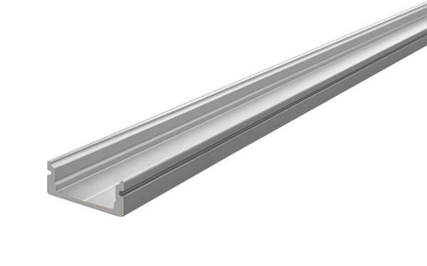 Reprofil Profil, U-Profil flach AU-01-12, Aluminium, Silber-matt eloxiert, 2000mm