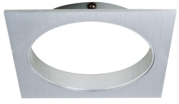 Deko-Light Deckeneinbauleuchte, Epart Grundrahmen 1er quadratisch, Silber, gebürstet