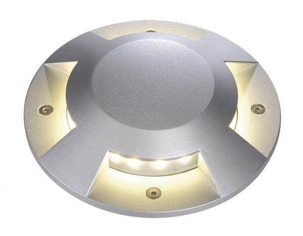 BIG LED PLOT, Abdeckung, rund, 4 Slots, silbergrau