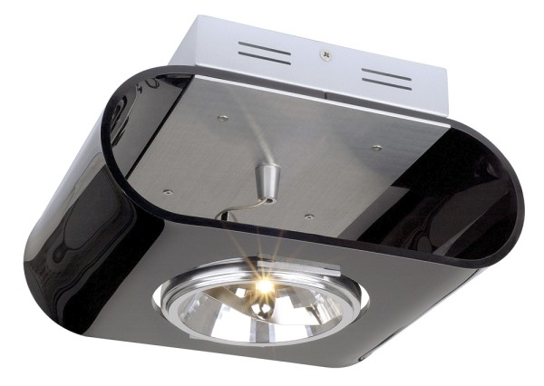 RETROSIX, Wand- und Deckenleuchte, einflammig, QR-LP111, Acrylglas schwarz, max. 50 W