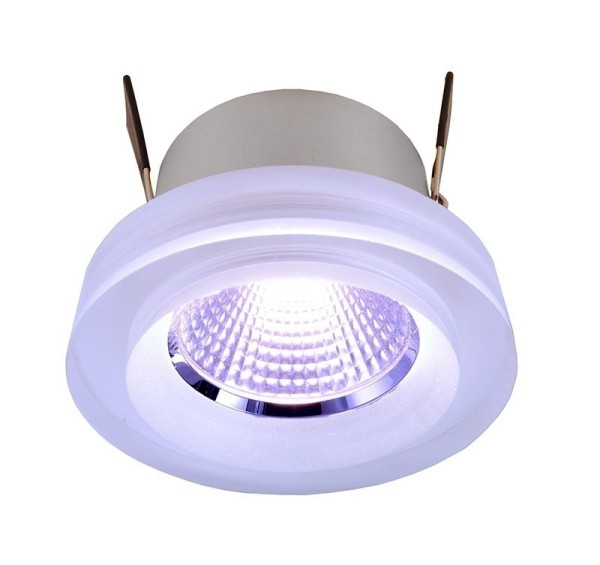 Deko-Light Deckeneinbauleuchte, COB 68 Acryl, Aluminium, silberfarben, RGB, 45°, 8W, 24V, 78mm