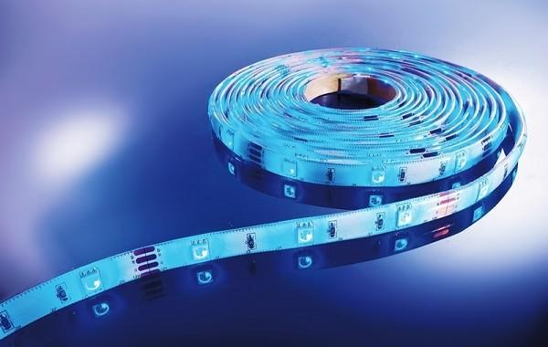 Flexibler LED Stripe IP 33, 12V, 5 m Rolle, mit Fa