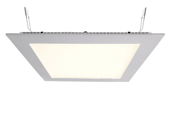 Deko-Light Deckeneinbauleuchte, LED Panel Square 20, Aluminium Druckguss, silberfarben, Warmweiß