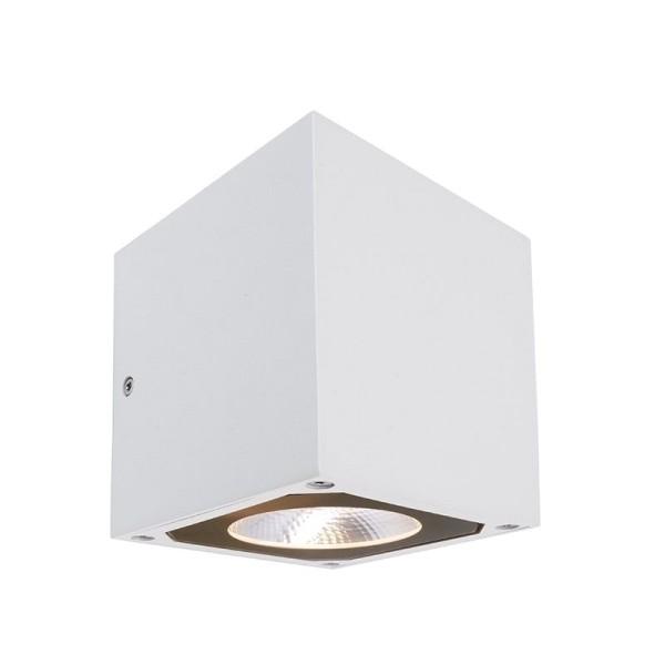 Deko-Light Wandaufbauleuchte, Cubodo II Double W, Aluminium Druckguss, weiß, Warmweiß, 19°/19°, 14W