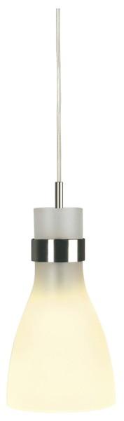 BIBA, Pendelleuchte für Hochvolt-Stromschiene EASYTEC II, C35, chrom, Glas satiniert, max. 60W