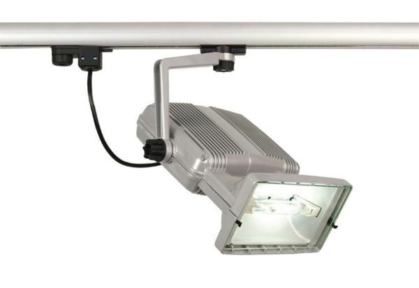 Kapego Schienensystem 3-Phasen 230V, Hit-TS, exklusive Leuchtmittel, Silber-matt, Anzahl Sockel: 1