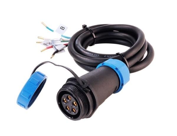 Deko-Light Kabelsystem, Weipu Einspeisekabel 5-polig, Kunststoff, 24V, 5000mm