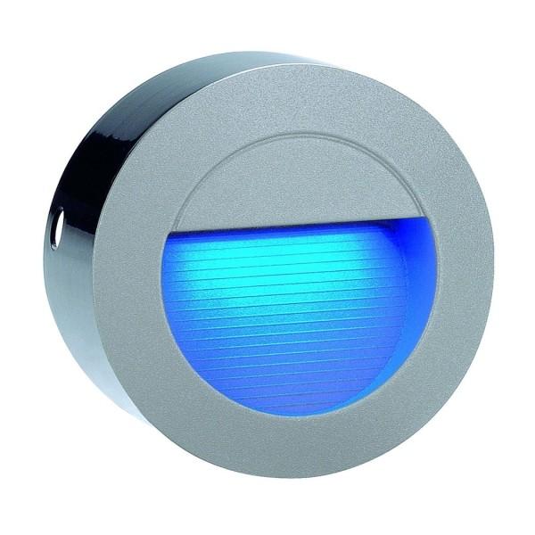 DOWNUNDER LED 14 Wandleuchte, steingrau, 0,8W, blau, IP44