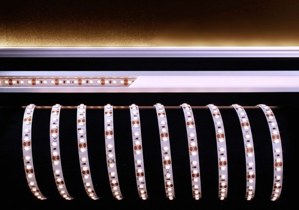 Deko-Light Flexibler LED Stripe, 3528-120-12V-3000K-5m-Nano, Kupfer, Weiß, Warmweiß, 120°, 30W, 12V
