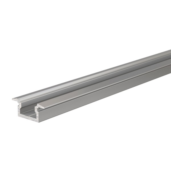 Reprofil, T-Profil flach ET-01-05 für LED Stripes bis 5,7 mm, Silber-matt, eloxiert, 2000 mm