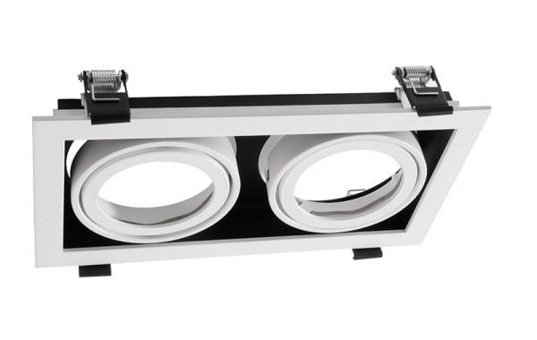 Deko-Light Zubehör, Kardanrahmen für Modular Sytem COB, Aluminium, Weiß mattiert, 140x257mm