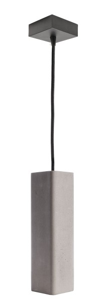 Deko-Light Pendelleuchte, Polaris, Beton, grau, 35W, 230V, 70x70mm