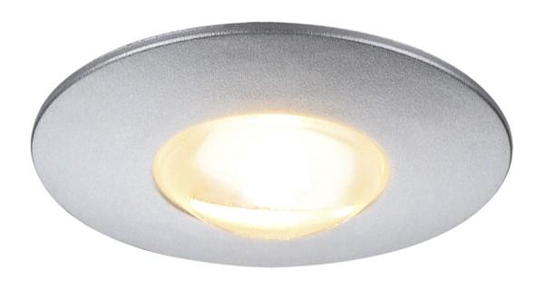 DEKLED, Einbauleuchte, LED, 3000K, rund, silber metallic, 1W