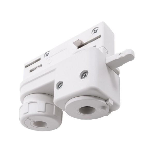 Ivela Schienensystem 3-Phasen 230V, Adapter für Leuchtenmontage, Kunststoff, Weiß, 230V, 75x33mm