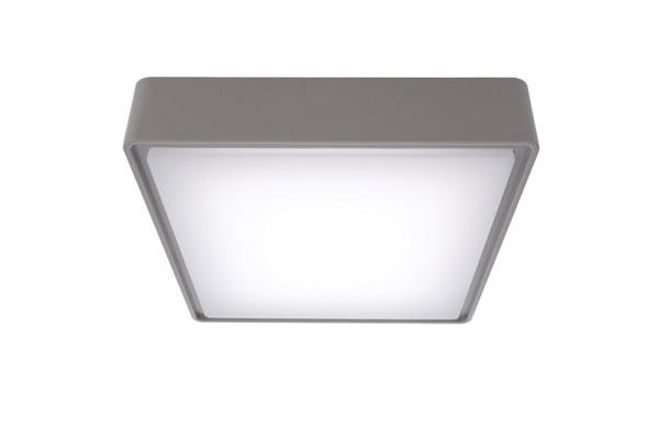 Deko-Light Deckenaufbauleuchte, Quadrata I, Kunststoff, grau, Neutralweiß, 115°, 10W, 230V
