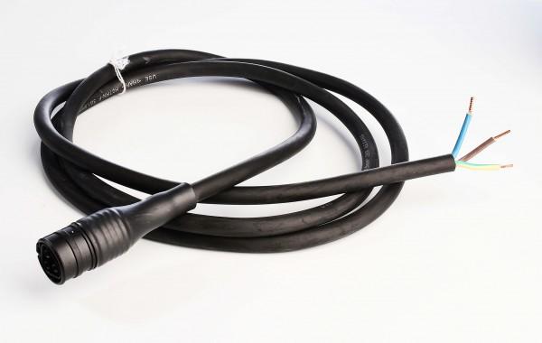 Kabelsystem, Wieland RST20i3 Anschlussleitung, Kunststoff, Schwarz, 230V, 2000mm