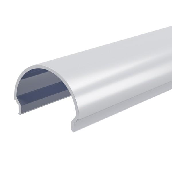 Reprofil, Abdeckung R-01-20, Kunststoff, milchig 40% Transmission, Länge: 2000 mm