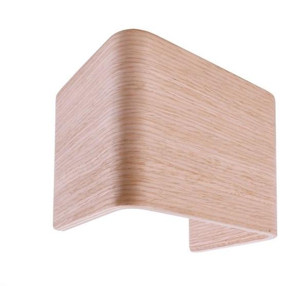 Deko-Light Zubehör, Abdeckung Crateris I Holz Weiße Eiche, Holz, Braun lackiert, 125x90mm
