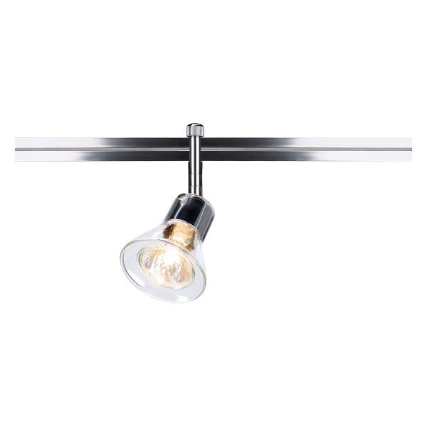 ANILA, Spot für LINUX LIGHT, QR51, rund, chrom, mit klarem Glas, max. 50W
